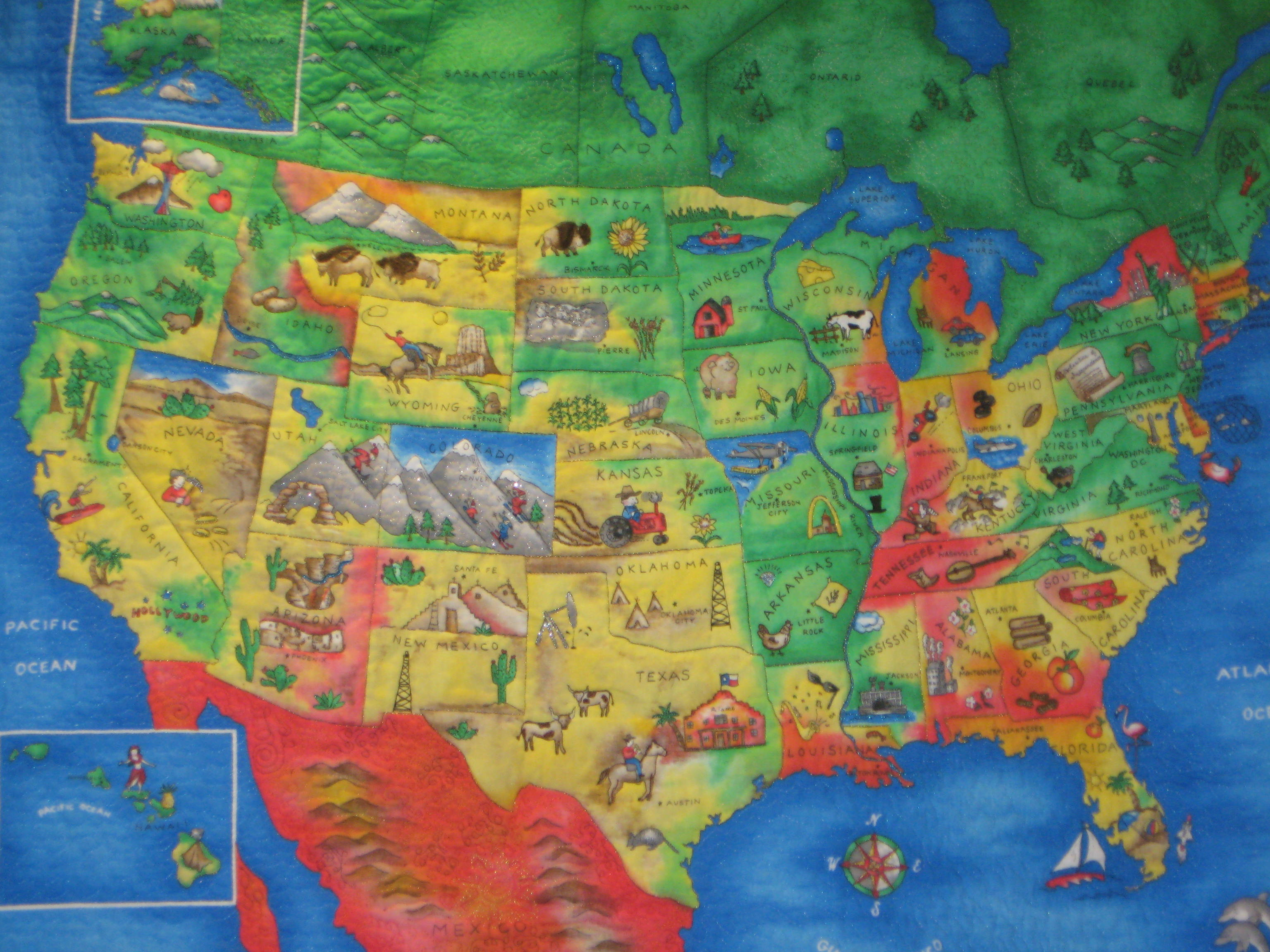 Quilt USA Map 8 1 Index of